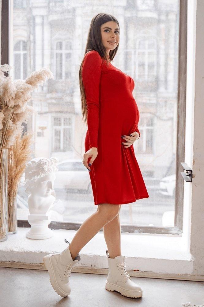 Платье для беременных 4287138 красный