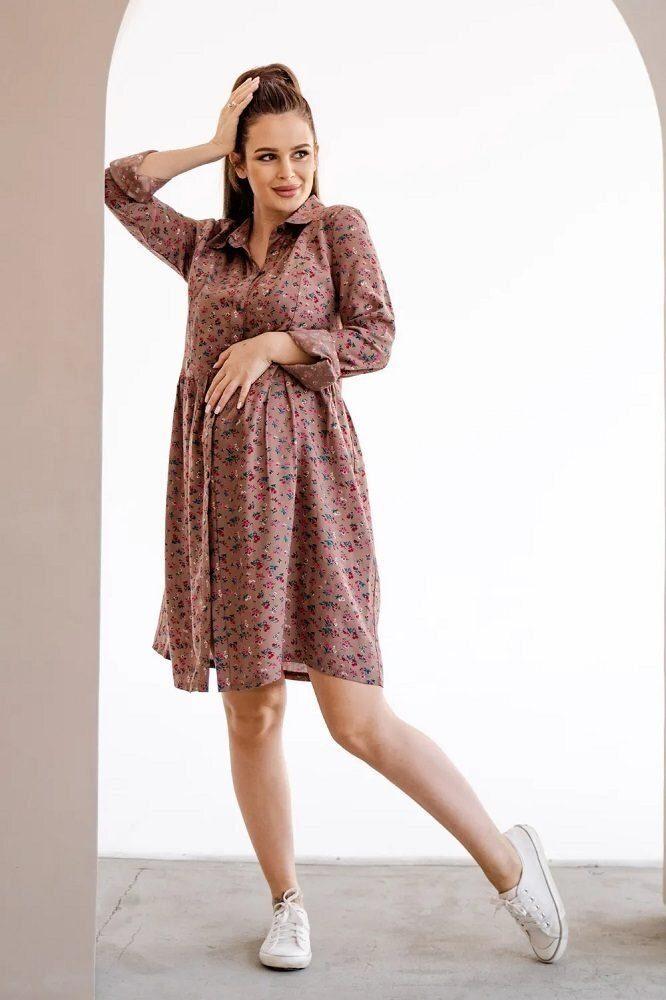 Сукня для вагітних і годуючих 4292604 коричневий