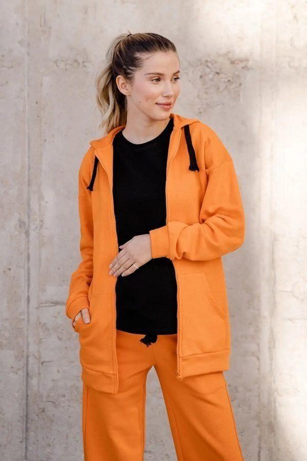 Джемпер для беременных 4304114 оранжевый