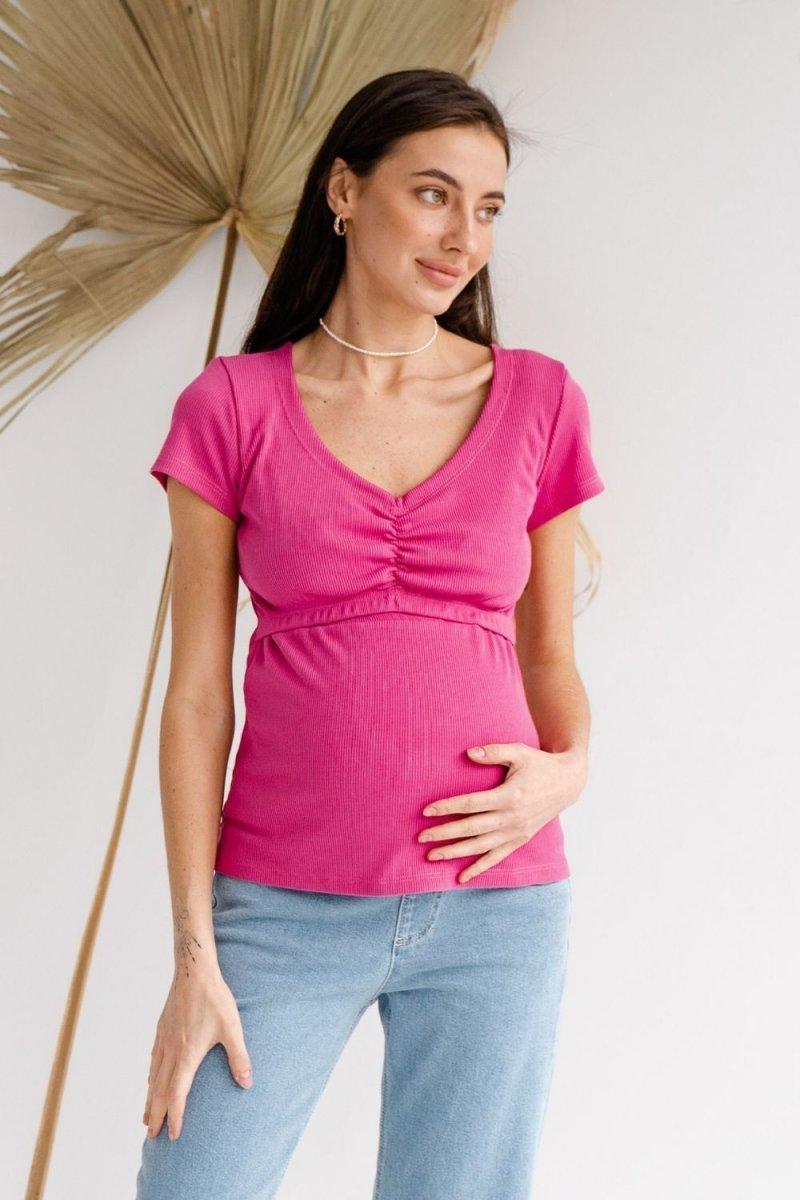 Футболка для беременных и кормящих 4307138 малиновый
