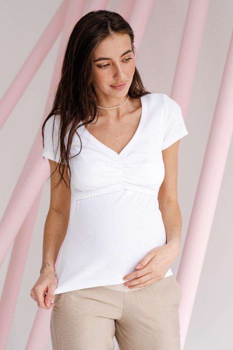 Футболка для беременных и кормящих 4307138 белый