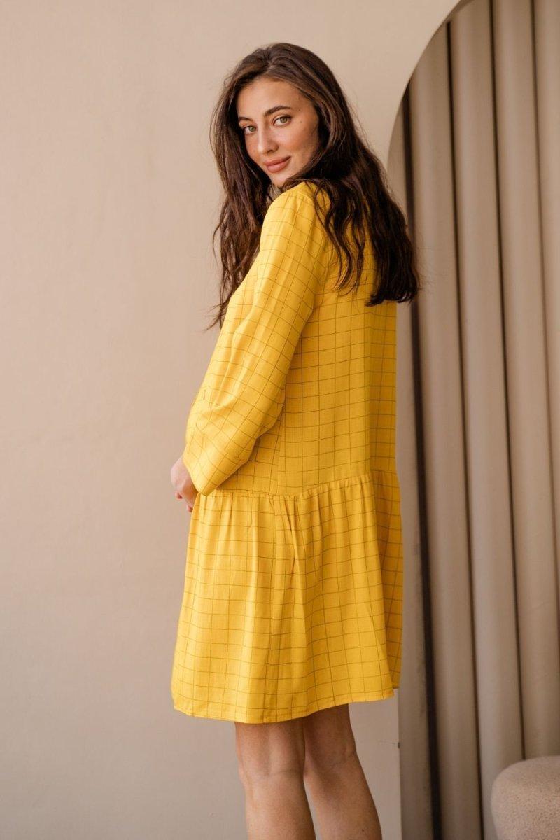 Платье для беременных и кормящих 4319738 жёлтый