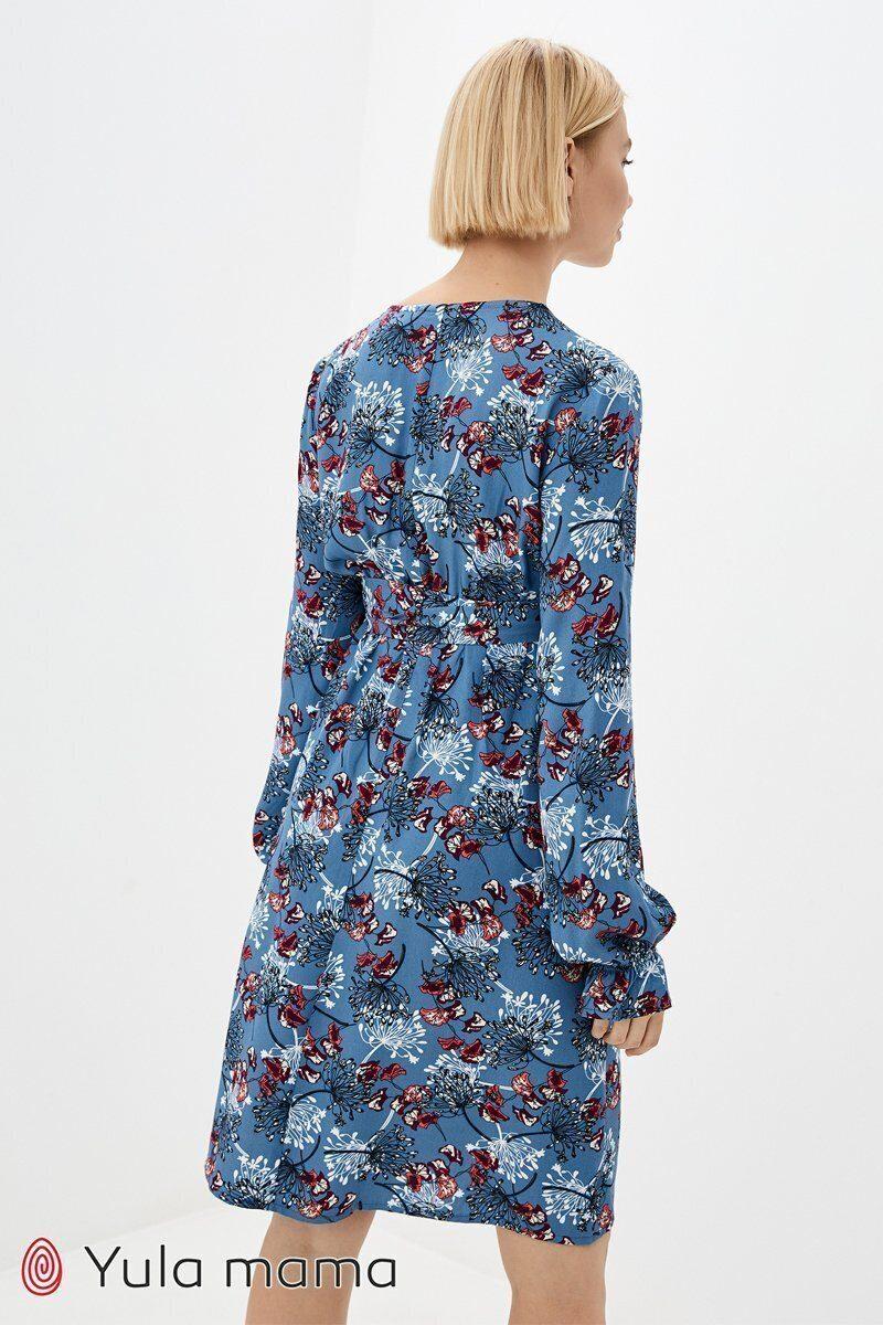 Платье для беременных и кормящих Rose джинсово-голубой