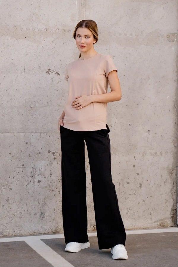 Спортивні штани кльош для вагітних 4353114-4 чорний