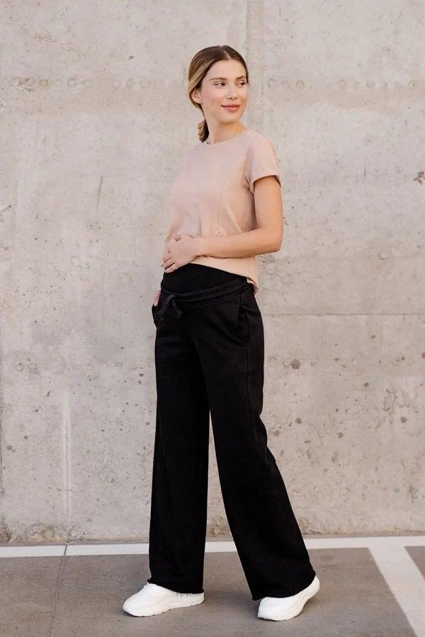 Спортивные штаны клеш для беременных 4353114-4 черный