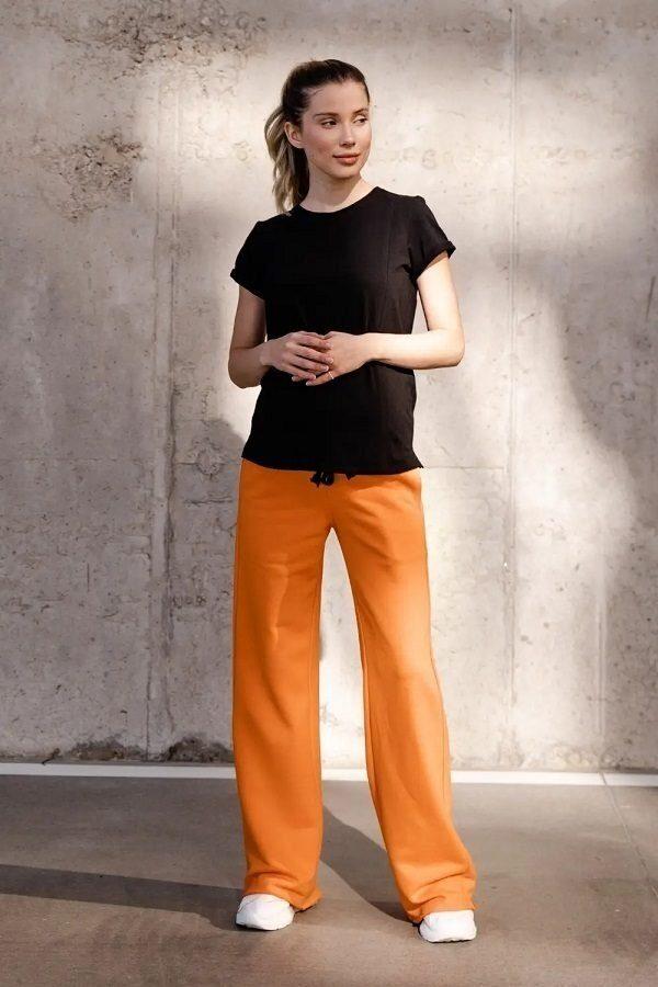Спортивні штани кльош для вагітних 4353114-4 Помаранчевий