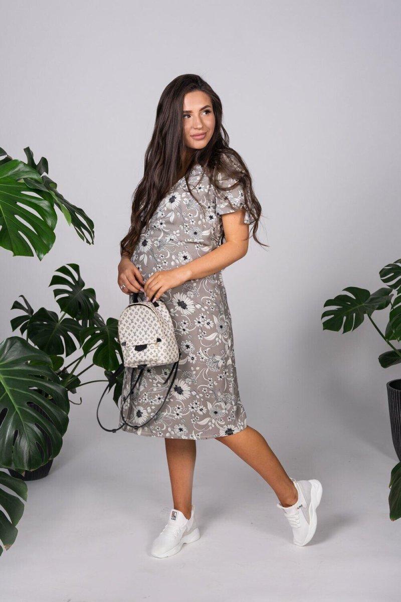 Платье для беременных 4173604 серый