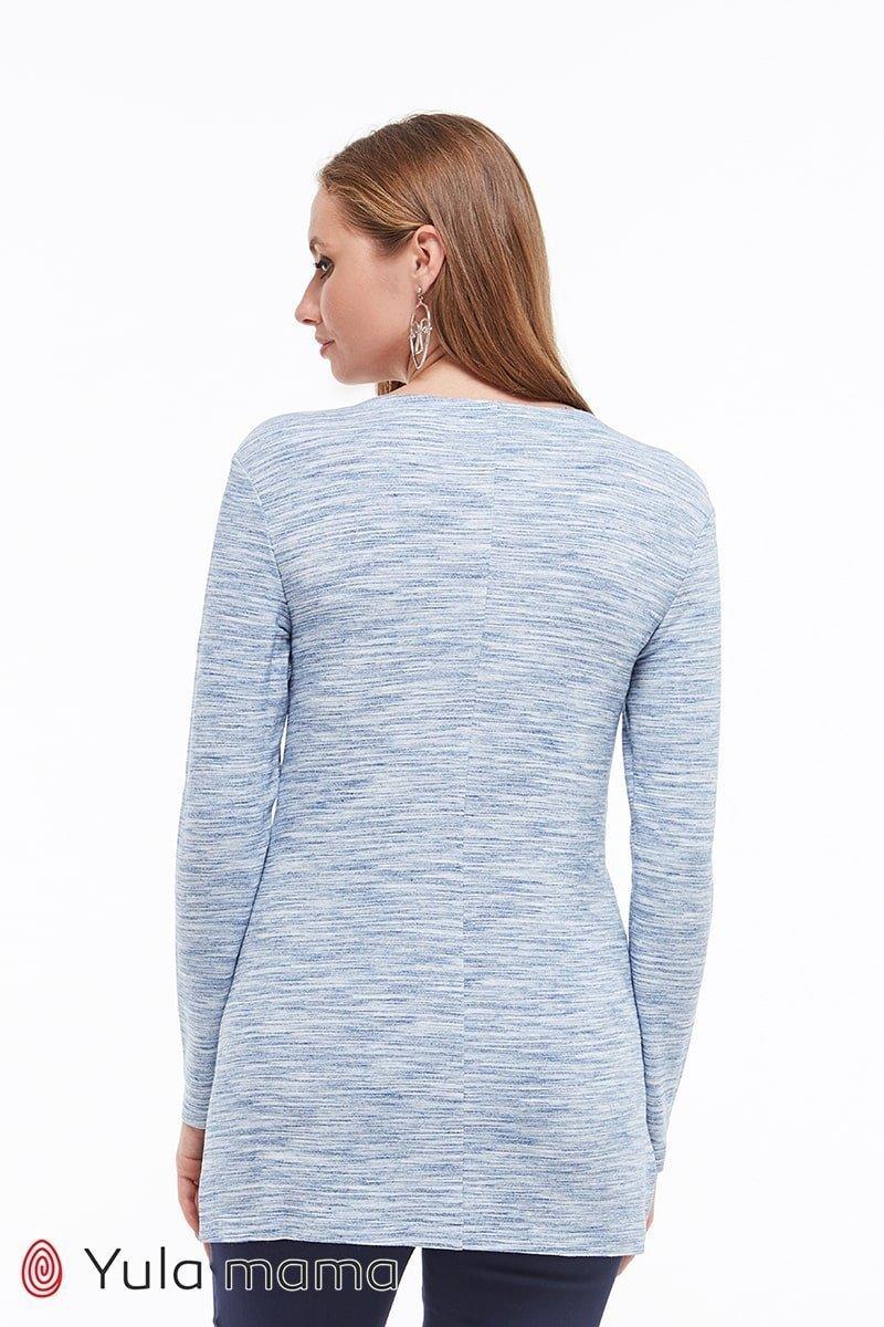 Туника для беременных и кормящих Kim джинсово-синий