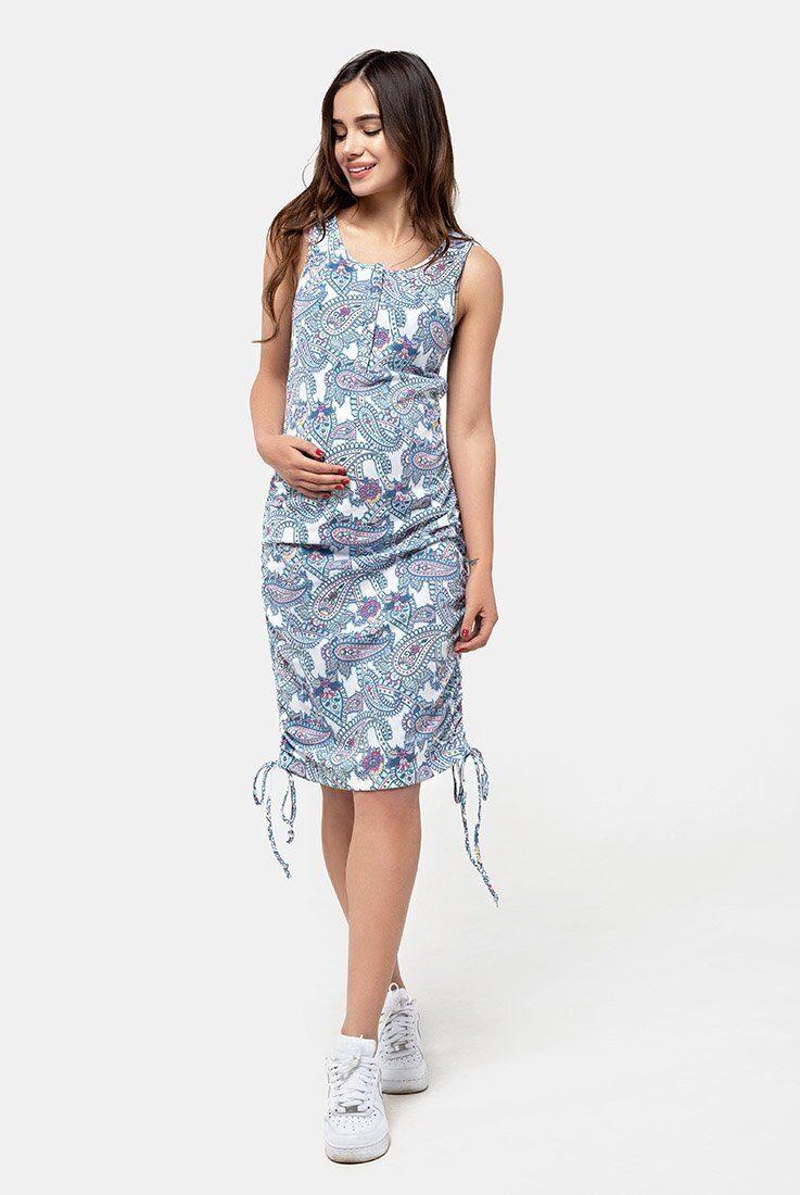 Сарафан-майка для беременных и кормящих (пейсли)
