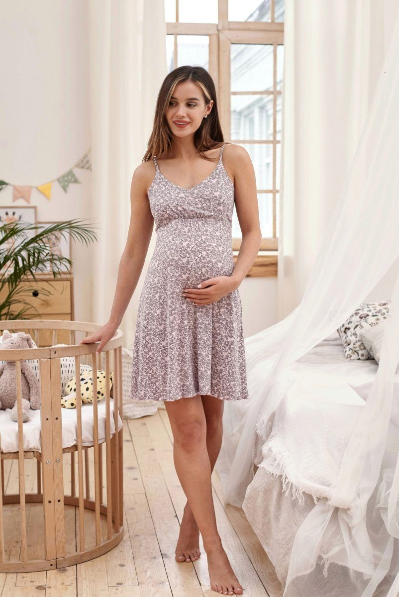 Ночная рубашка для беременных и кормящих Mirelle (лила)