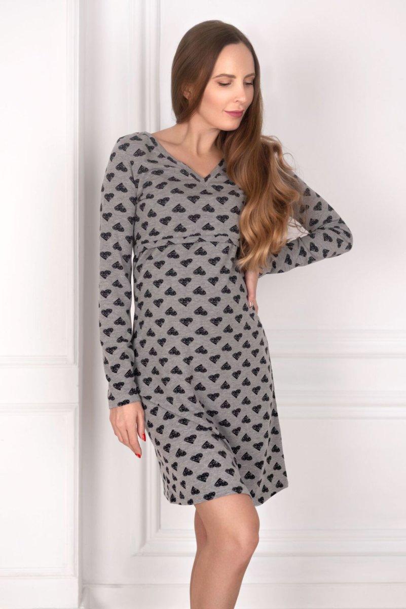 Платье трикотажное для беременных и кормящих 0119