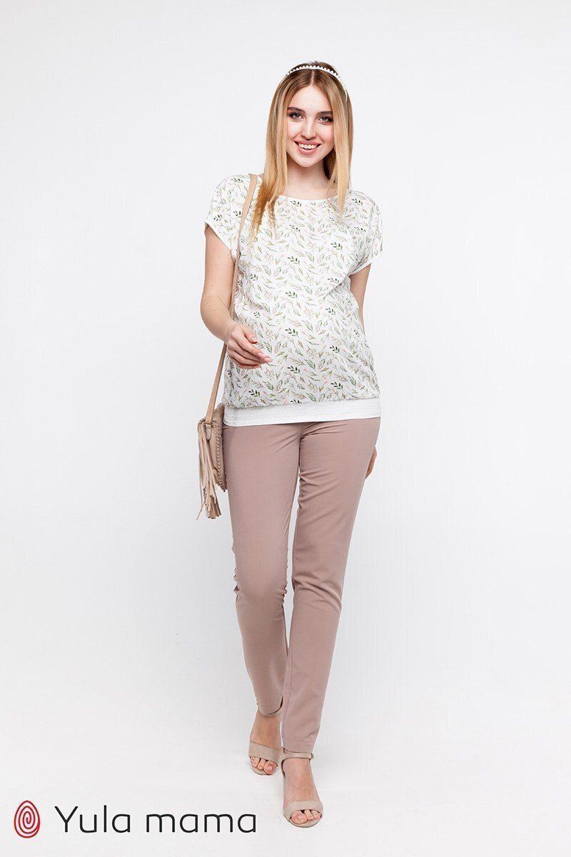 Классические узкие брюки для беременных Ava бежевый