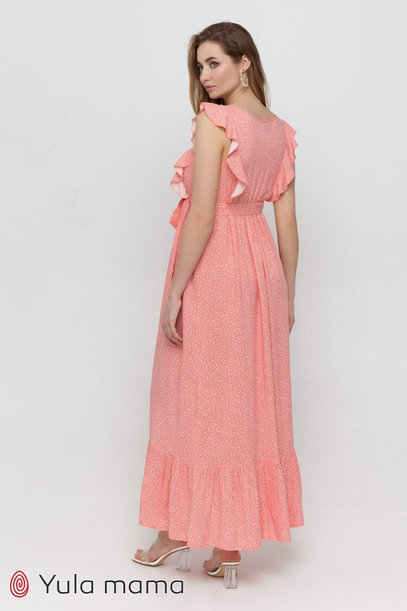 Платье для беременных и кормящих Freya коралл