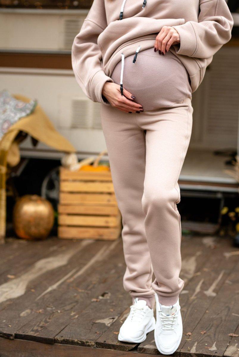 Спортивные штаны Buffalo (зима) бежевый для беременных
