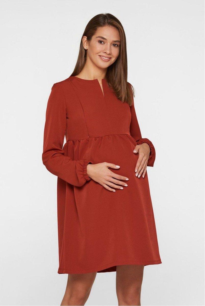 Сукня для вагітних і годуючих Genoa теракотовий