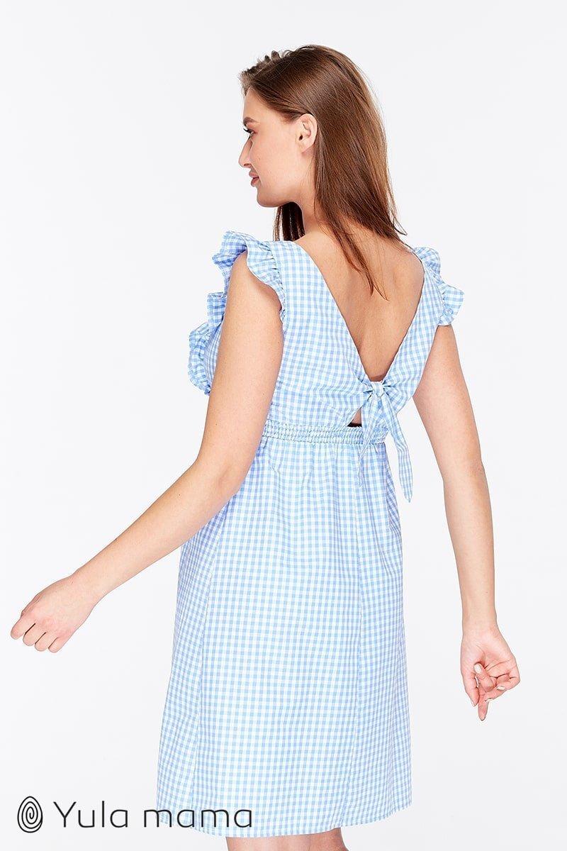 Сарафан для беременных и кормящих Dolly бело-голубой
