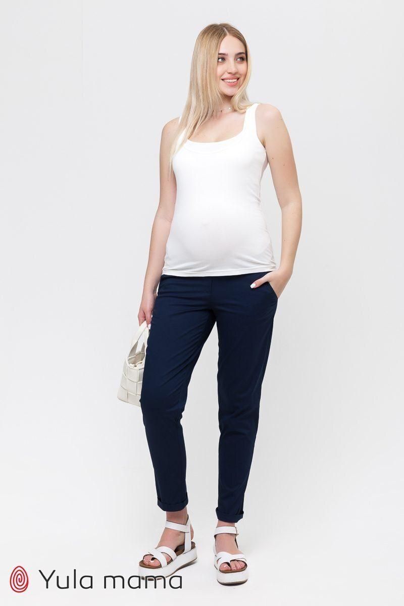 Штани-чінос для вагітних Evan синій