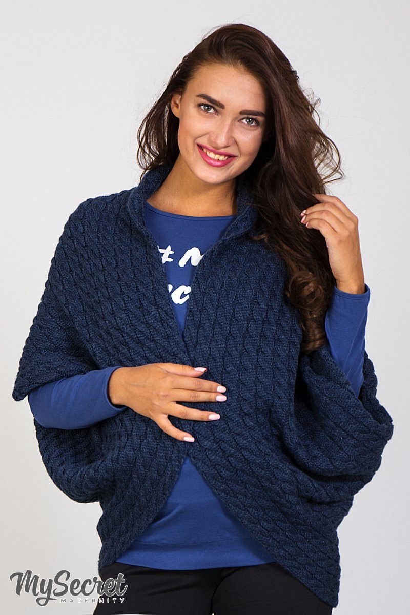 Кофта-шаль для беременных Leia синий джинс