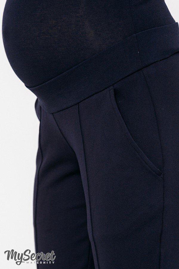 Теплые брючки для беременных Taya warm темно-синий