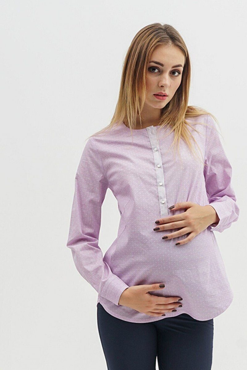 Блуза для беременных 1707224 Сиреневый