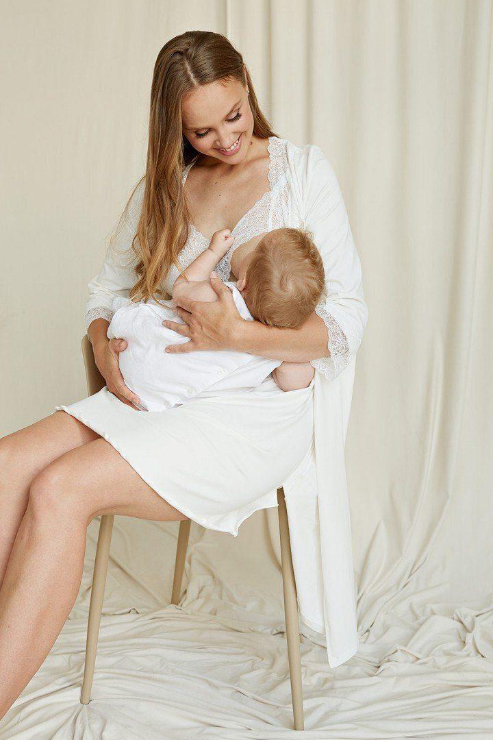 Халат для беременных 2065 1366 молочный