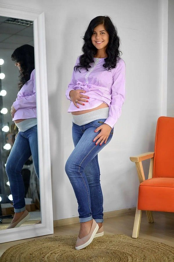 Джинсы для беременных 792629-5 синий варка 1
