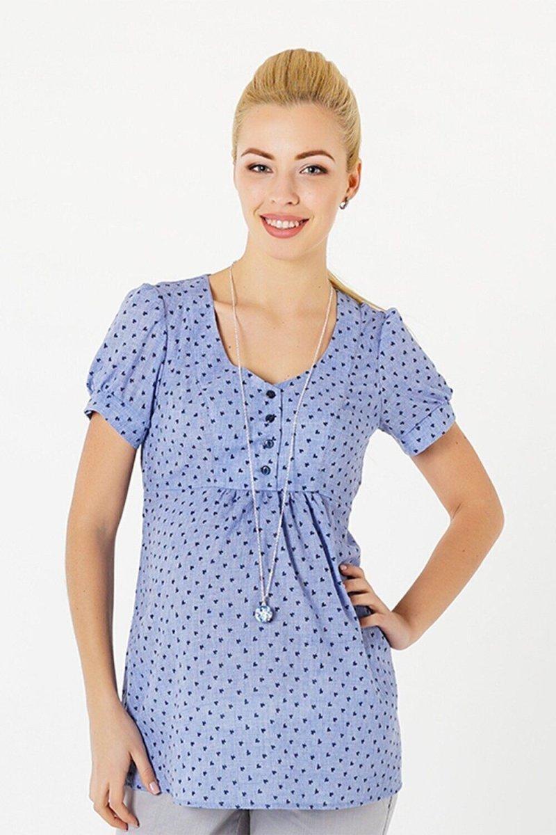 Блуза для беременных и кормящих 131717215 синий