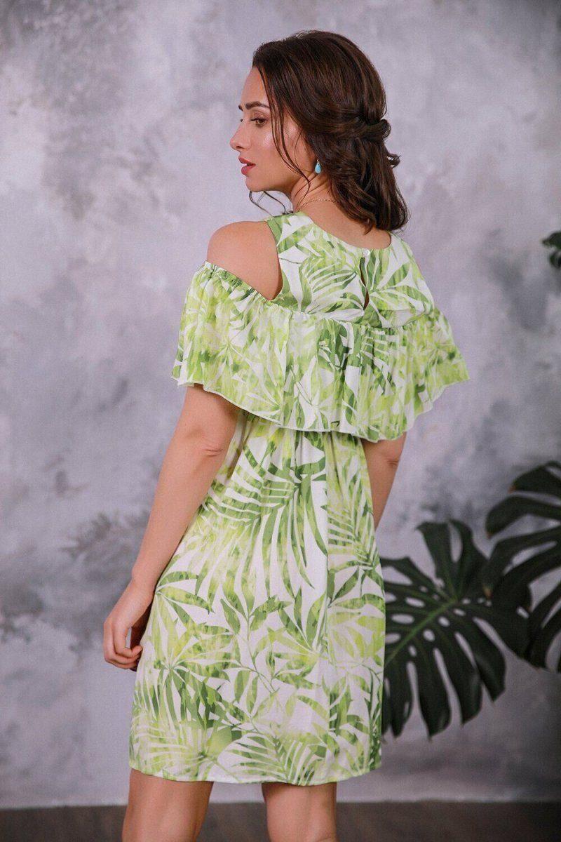 Платье для беременных 4084604 салатовый
