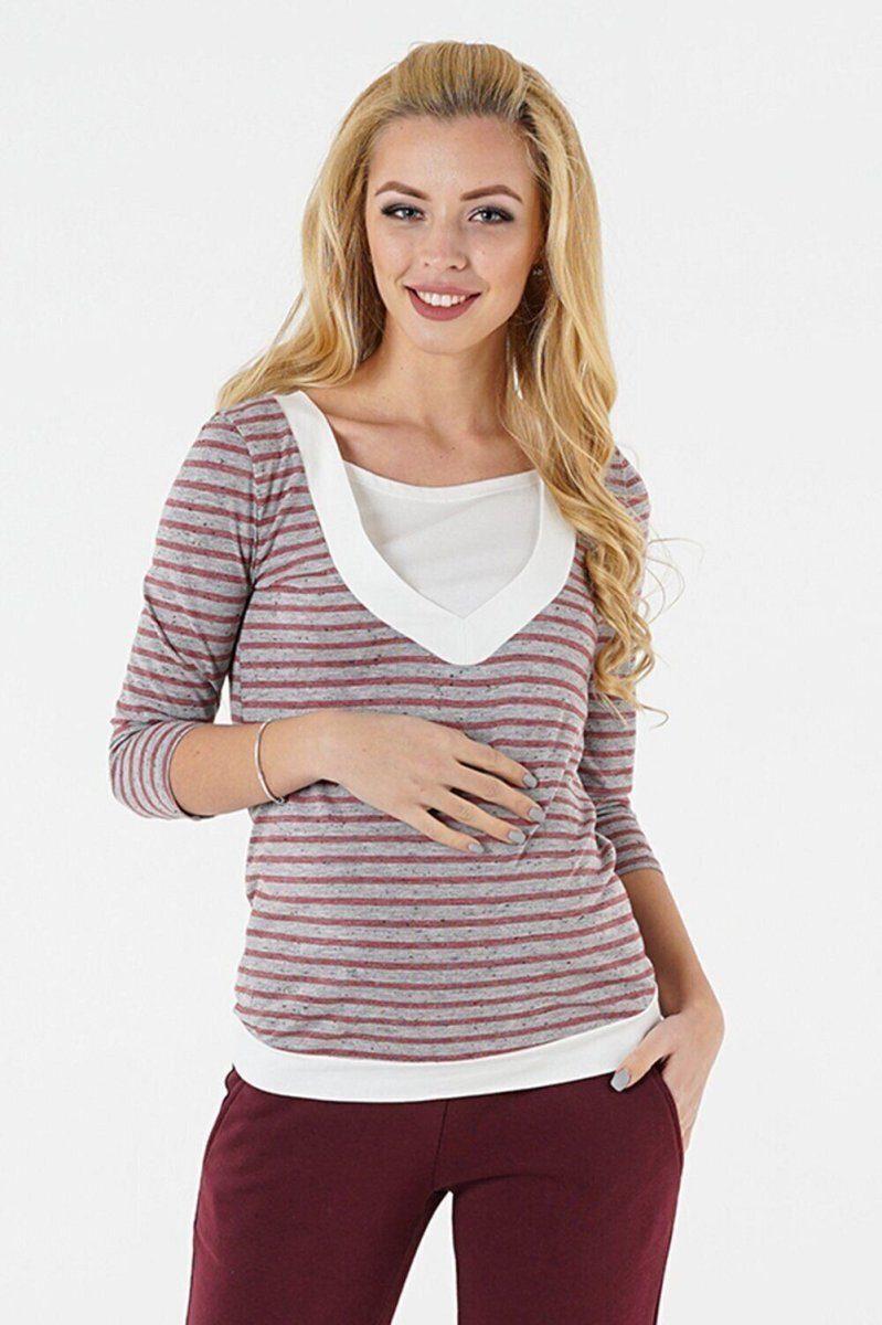 Джемпер-кормление и беременность 1335246 серый