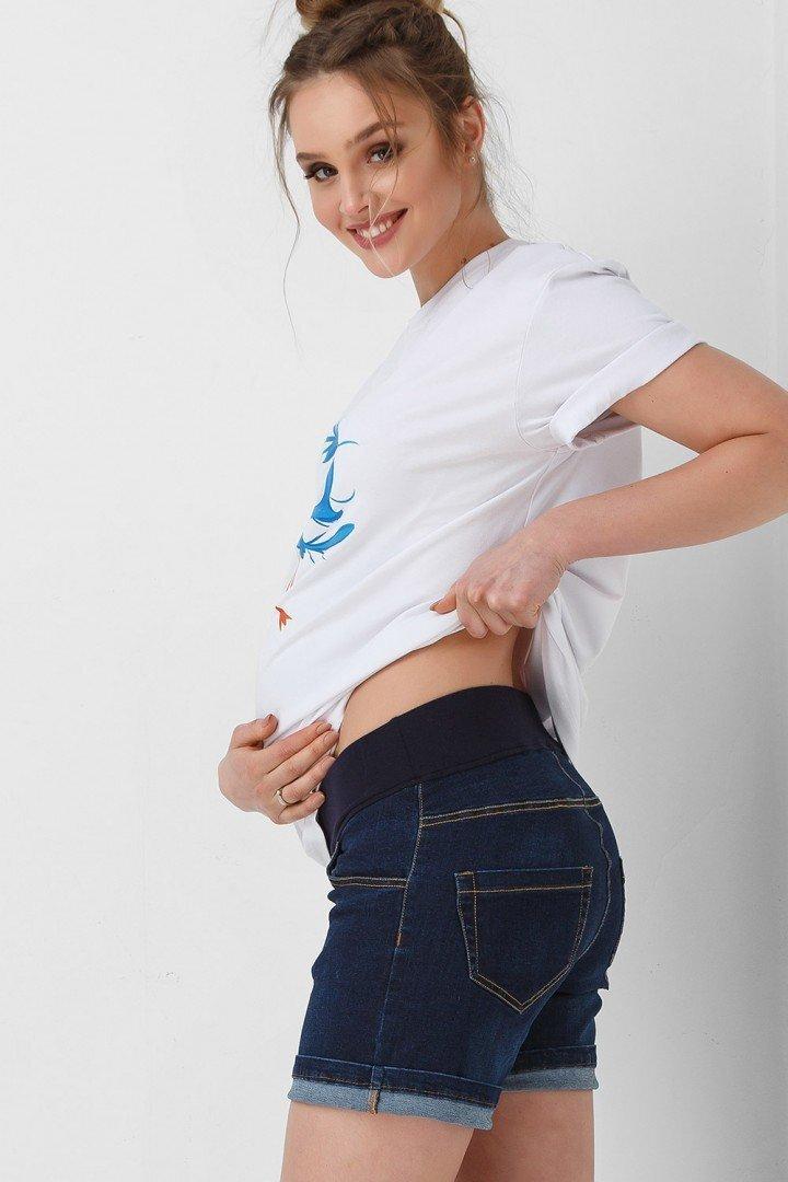 Шорты для беременных 1924 0000 синие