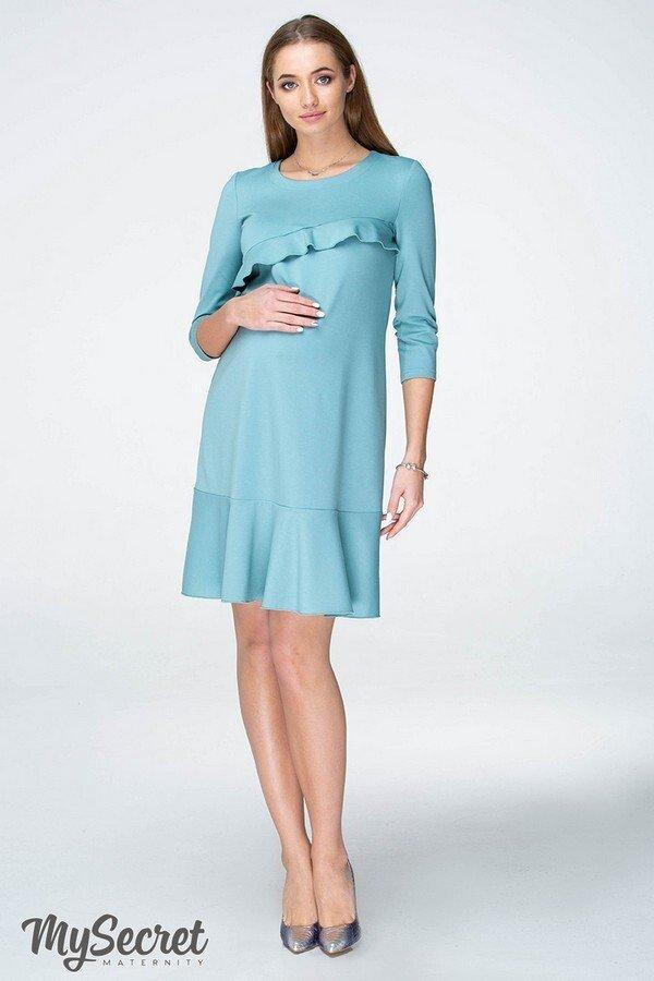 Платье для беременных и кормящих Simona полынный
