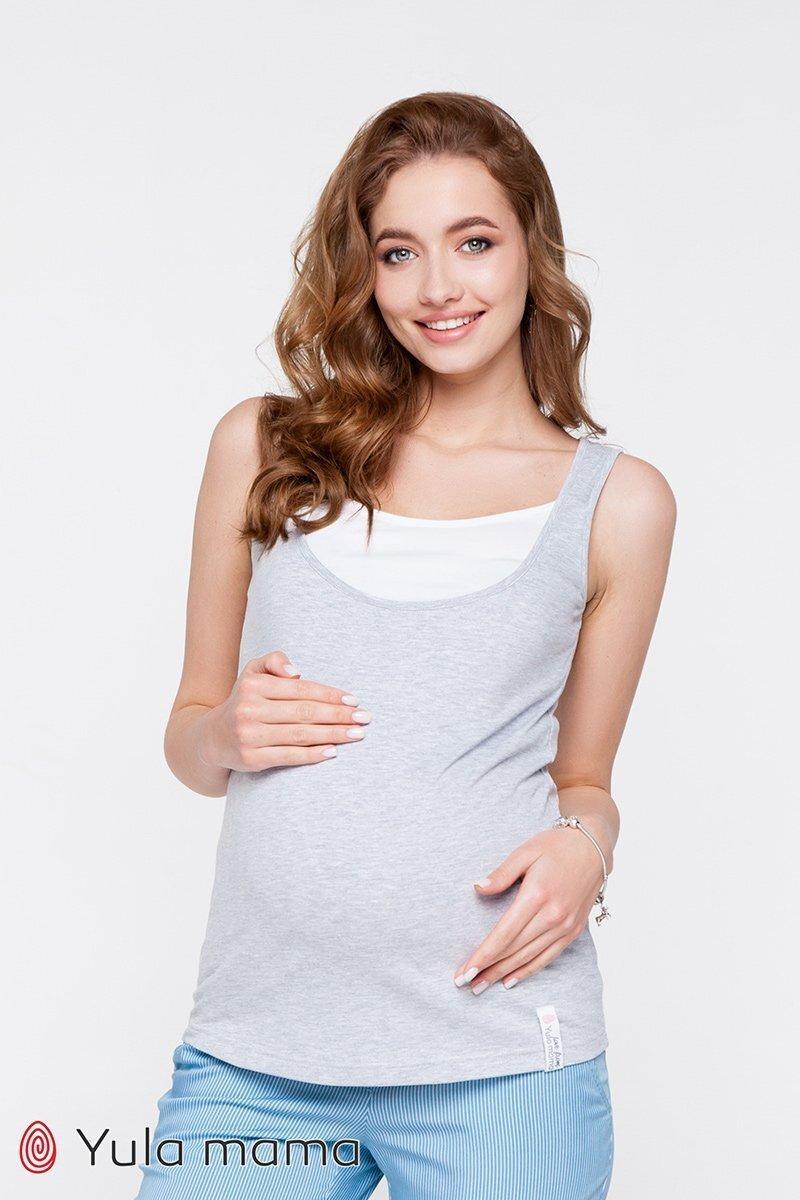 Майка для беременных и кормящих мам Tilla серая
