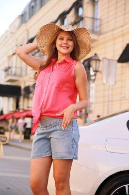 Блуза для беременных 4186616 малиновый