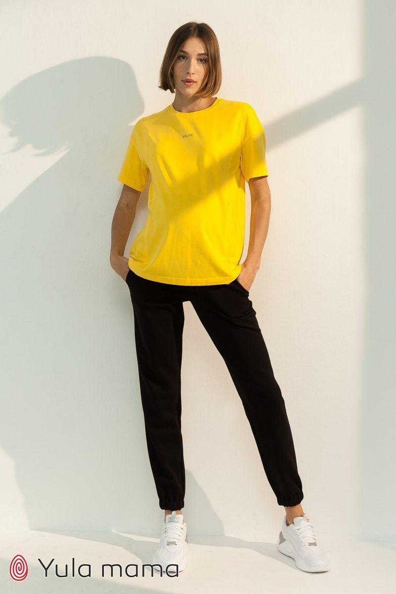 Спортивные брюки-джоггеры для беременных Celia черный
