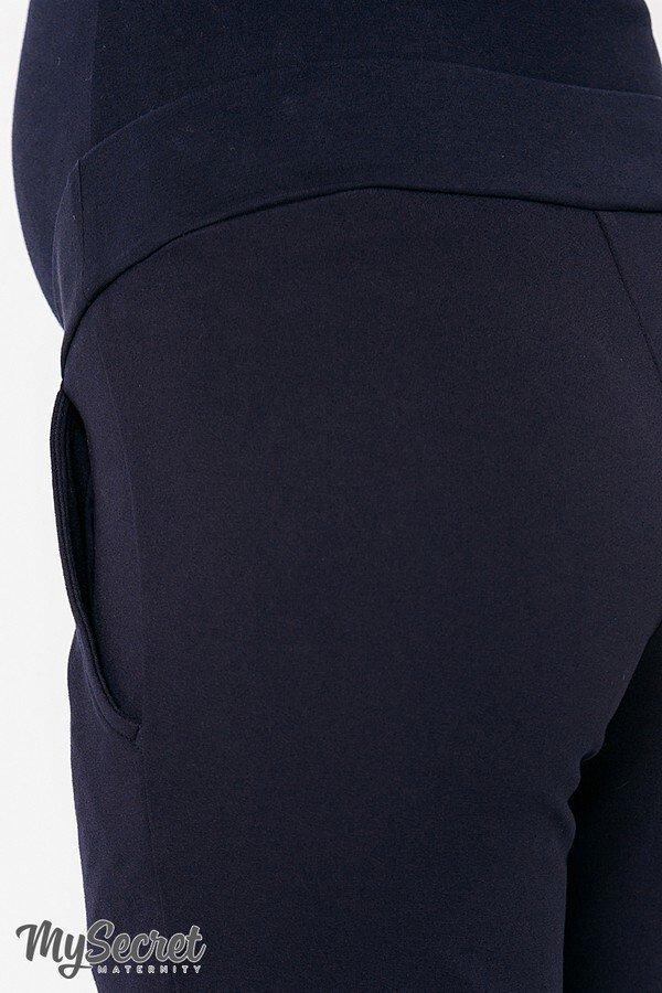 Теплі брюки для вагітних Taya warm темно-синій