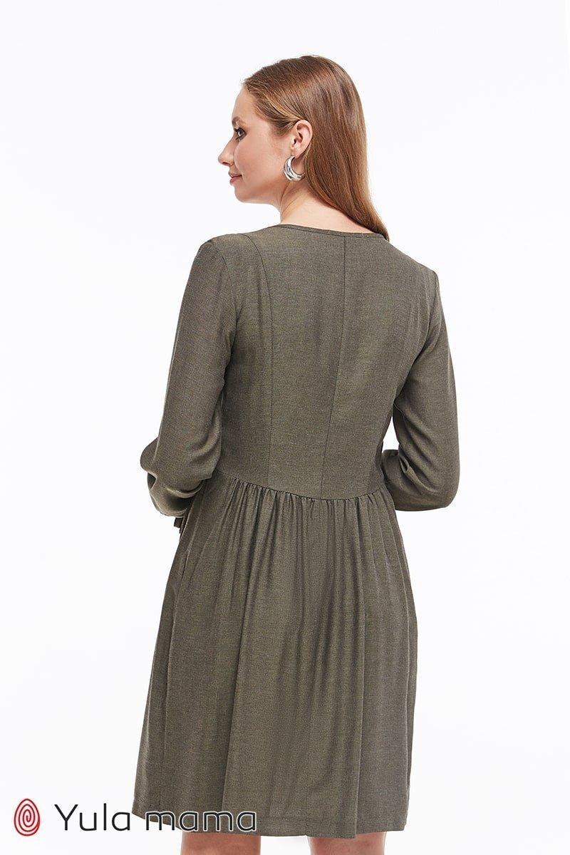 Стильное платье для беременных и кормящих Kris хакки