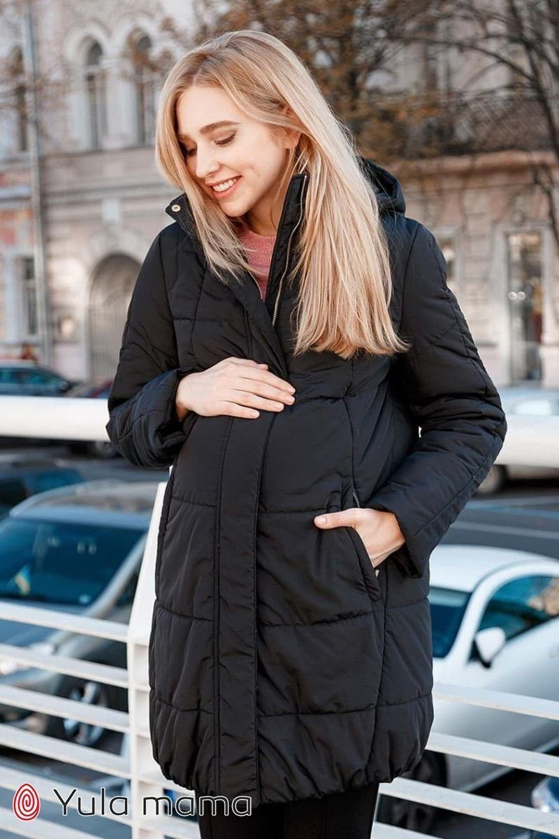 Зимова куртка для вагітних Jena чорний