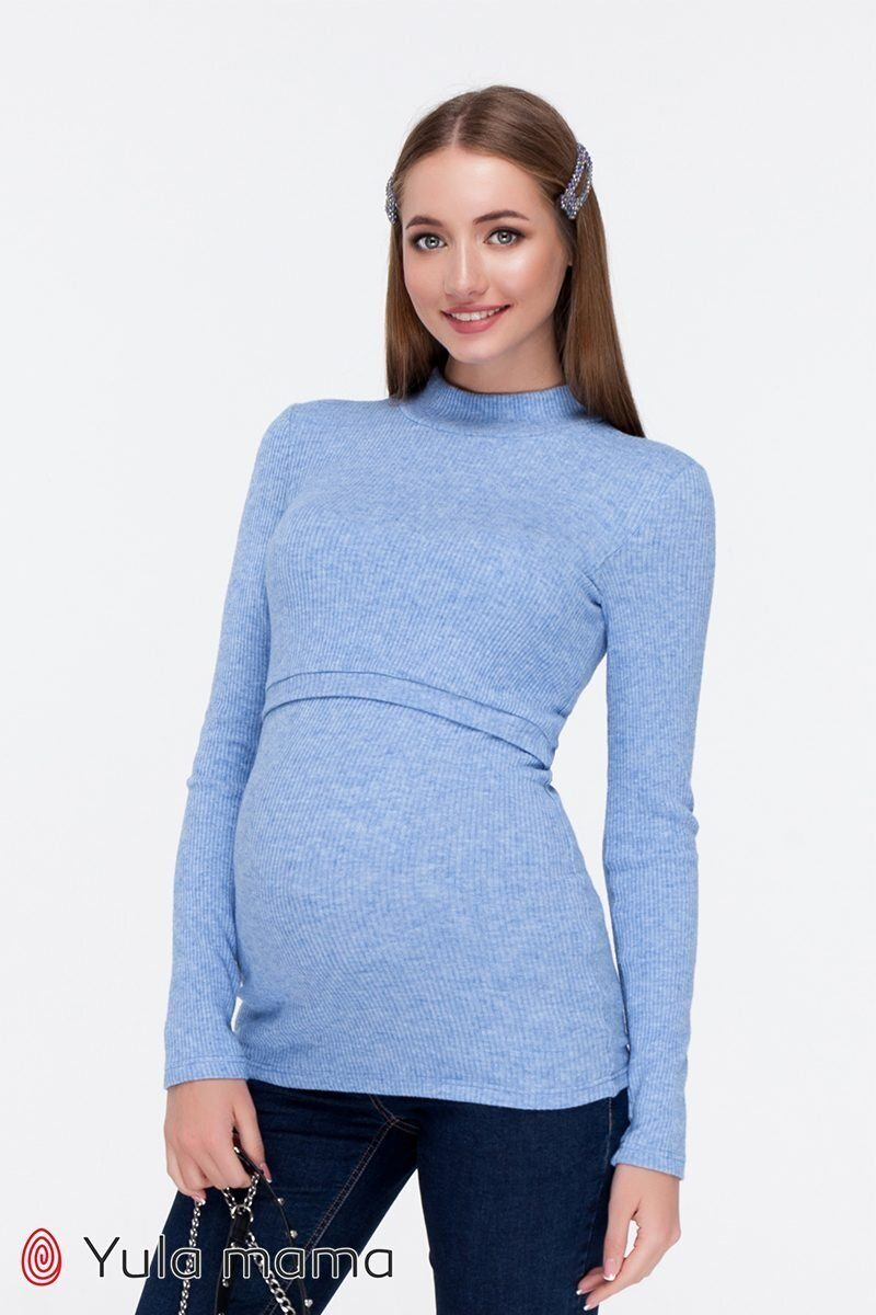 Гольф для беременных и кормящих Lecie warm голубой sale