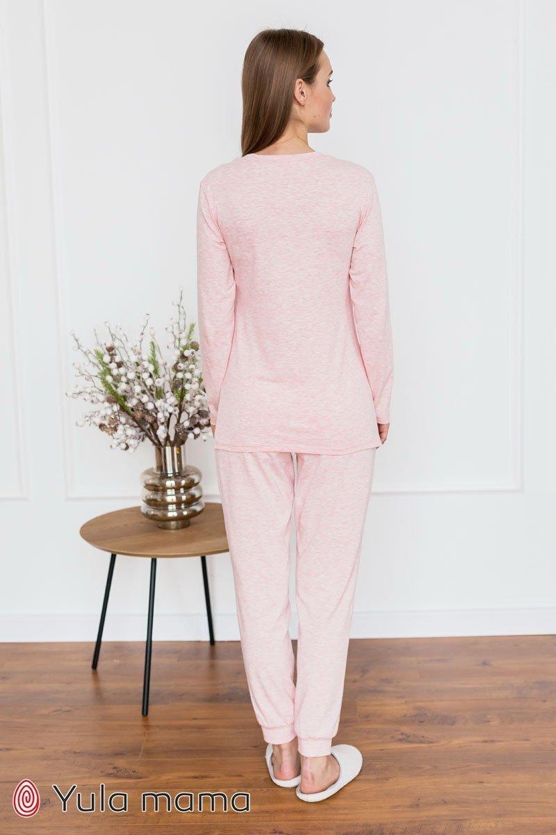 Пижама для беременных и кормящих мам Milena розовый