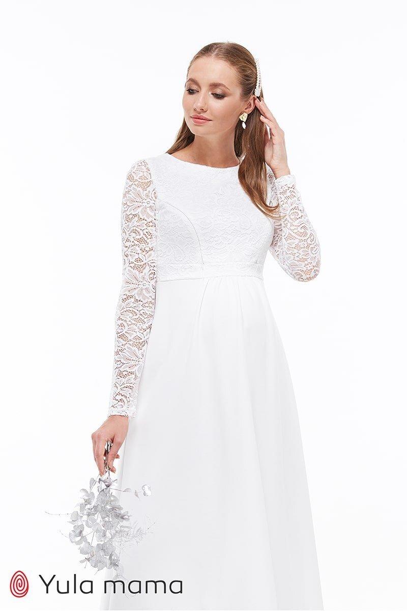 Свадебное платье для беременных и кормящих ELIANS молочный