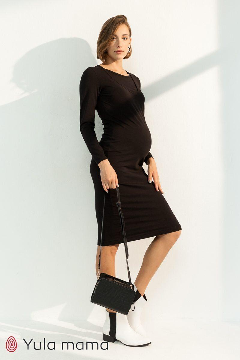 Базовое платье для беременных и кормящих Lillian черный