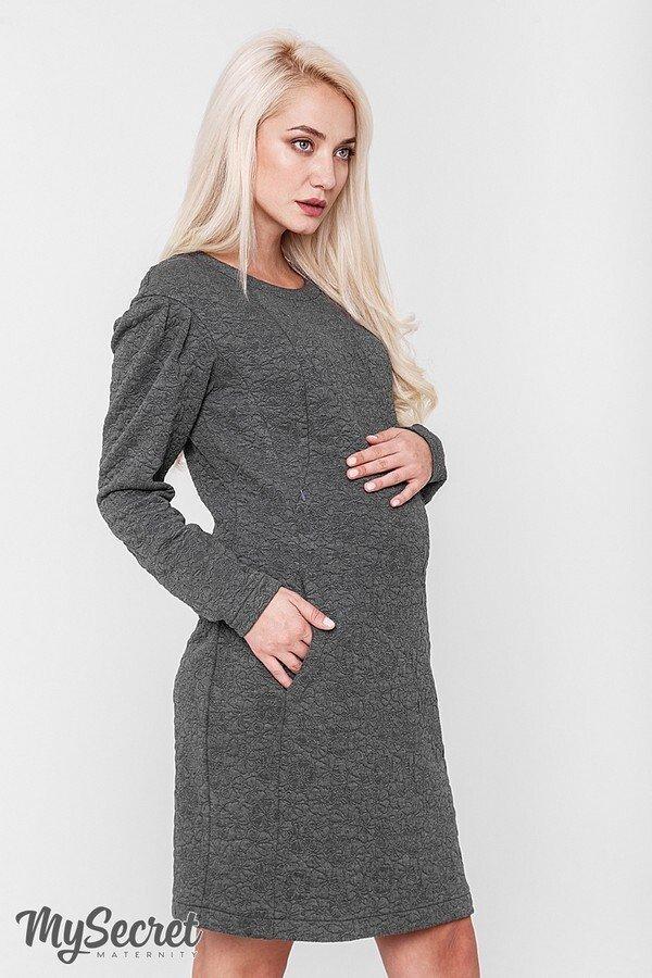 Платье для беременных и кормящих мам Brook темно-серый