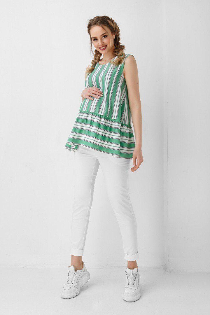 Блуза для вагітних і годуючих 1944 1099 зелена