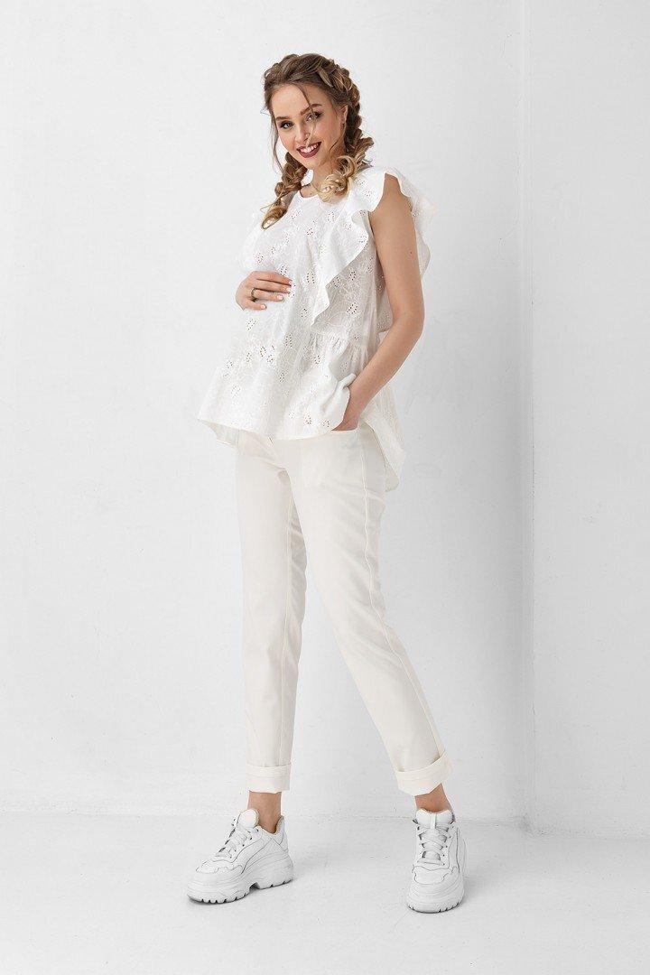 Блуза для беременных и кормящих 1948 1102 белая