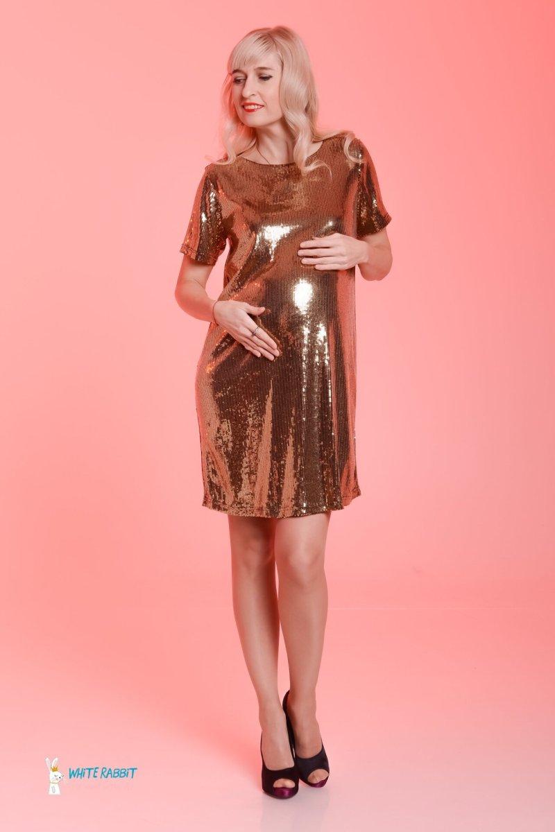 Нарядное платье для беременных love (золотой) sale