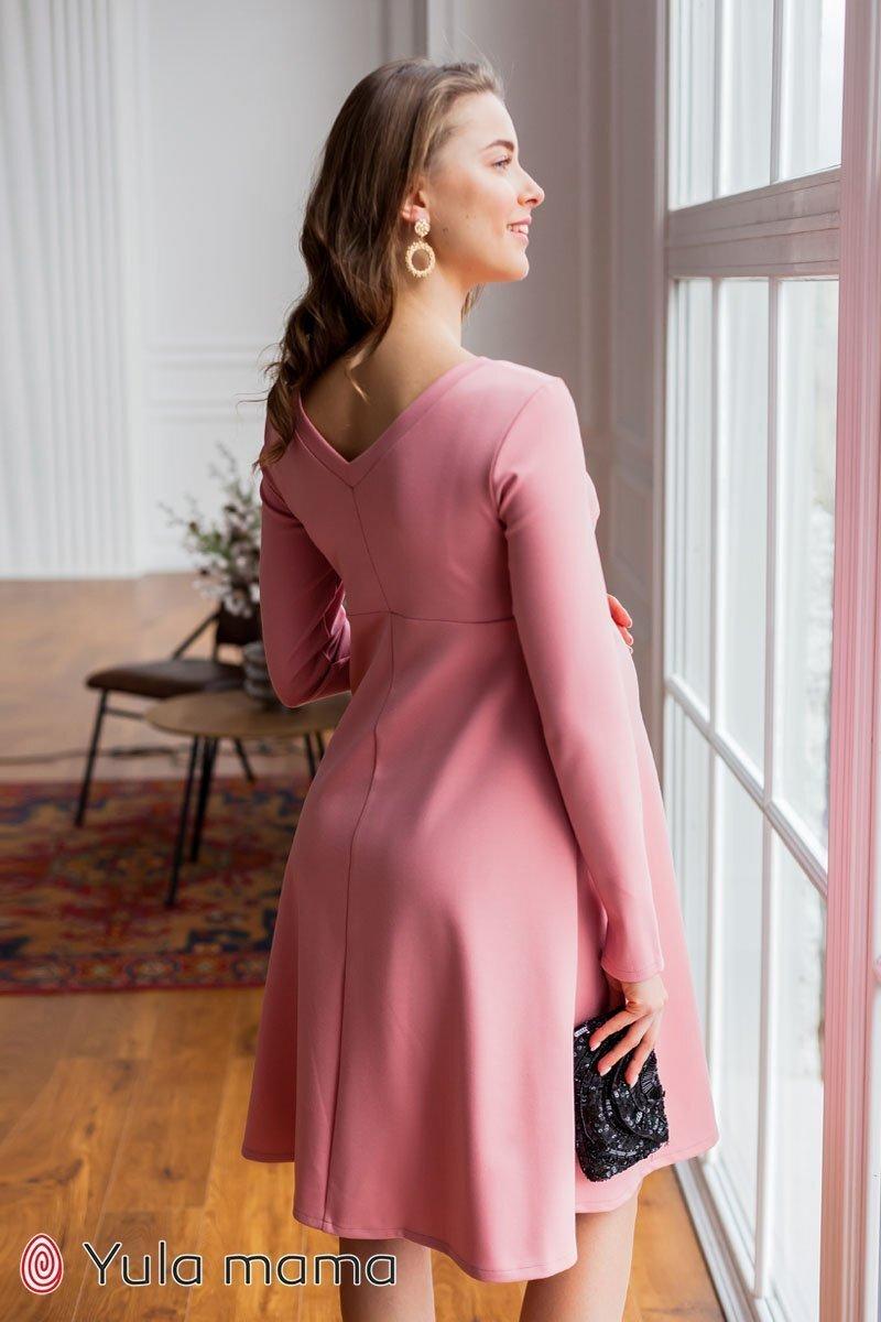 Платье для беременных и кормящих Olivia темная пудра