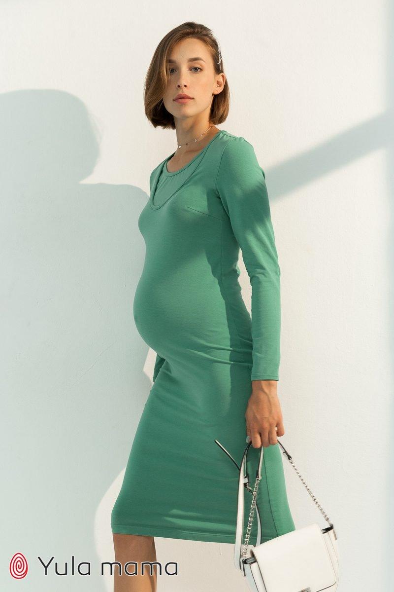 Базовое платье для беременных и кормящих Lillian фисташка