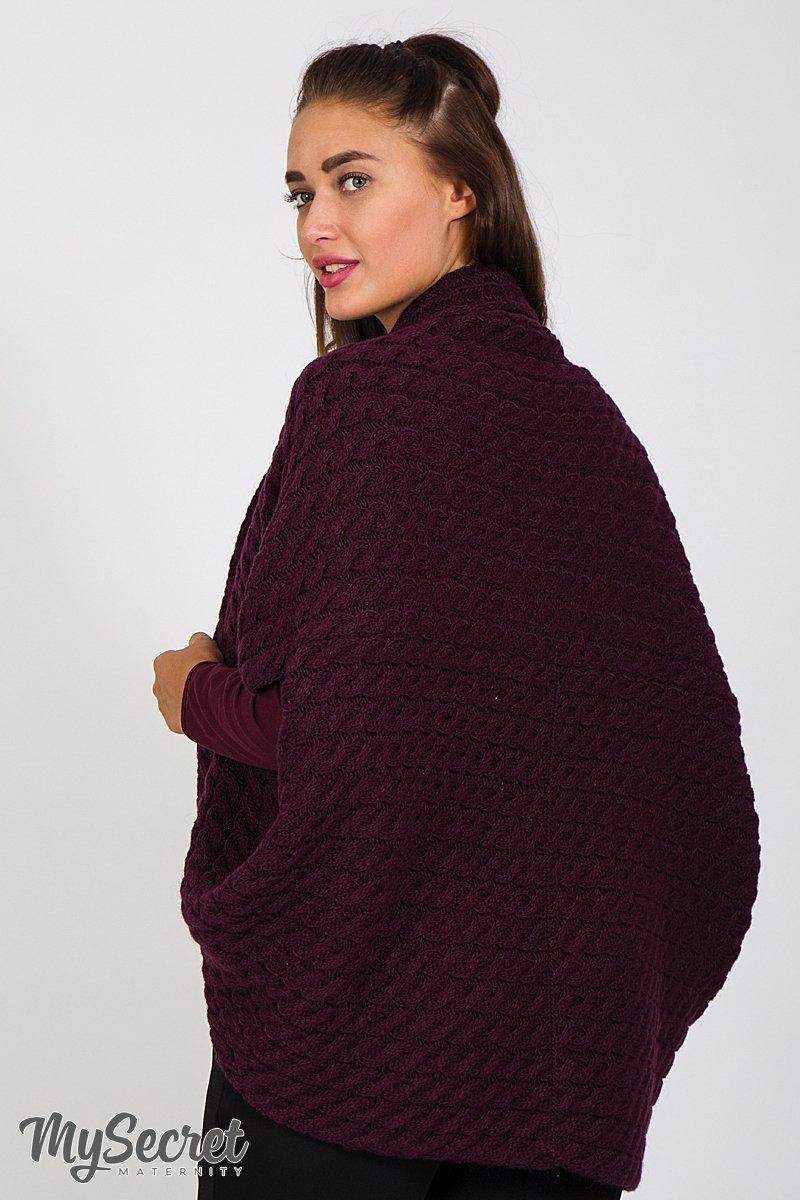 Кофта-шаль для беременных Leia темная марсала