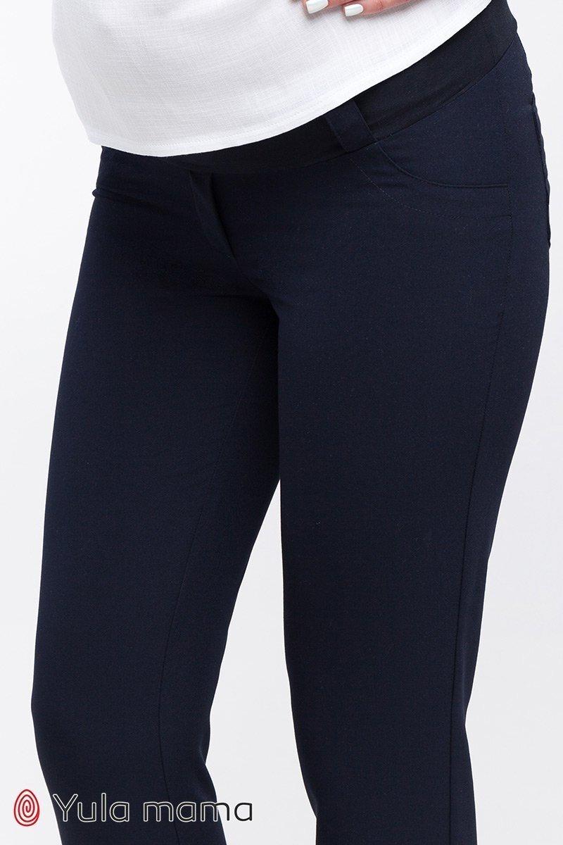 Классические узкие брюки для беременных Ava темно-синий
