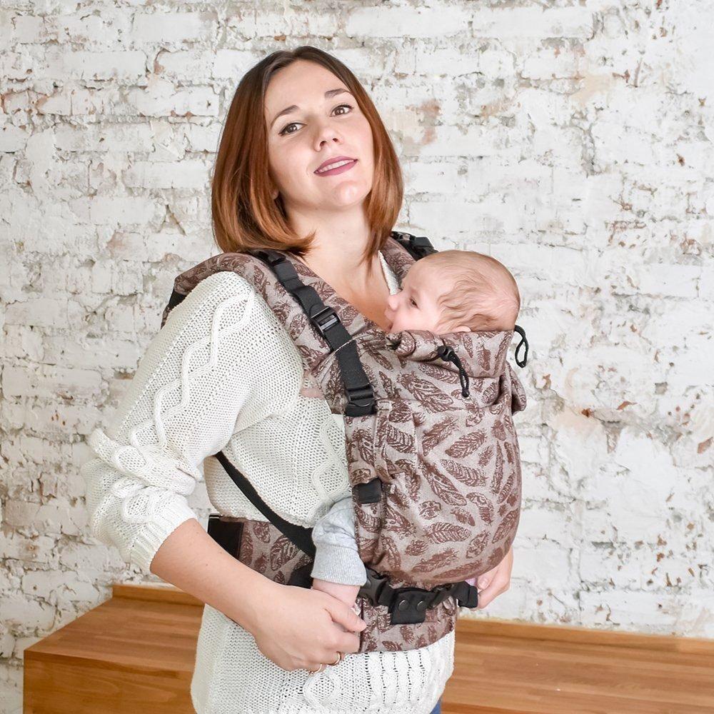 Эрго рюкзак Adapt шоколадный Feathers (0-48 мес) с рождения